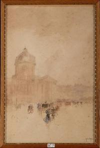 le quai conti animé devant l'institut de france by francis garat