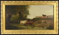 shepherd of cows by ludwig sellmayr