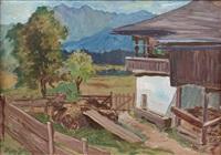 landschaft mit bauernhof by hans götzinger