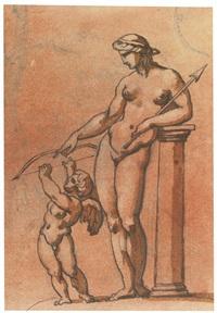cupid disarmed by venus by théodore géricault