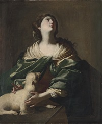 saint agnes by niccolò de simone