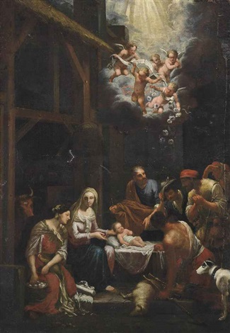 the adoration of the shepherds by johann heiss