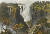the victoria falls, zambesi river (11 works) by john thomas baines