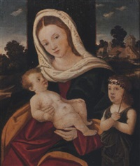 the madonna and child with the infant saint john the baptist by girolamo da santacroce
