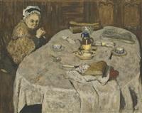 le petit déjeuner de madame vuillard by edouard vuillard