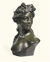 bust of a bacchante by jef lambeaux