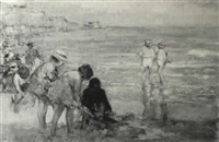 boys and girls on the beach by alfred john billinghurst