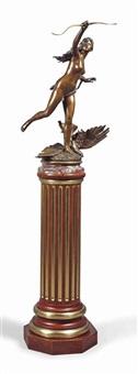 diana on a pedestal by paul jean baptiste gasq