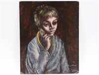 portrait of a blond haired boy by noel rockmore