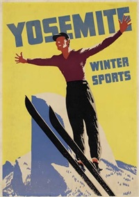 yosemite winter sports by posters: sports - skiing