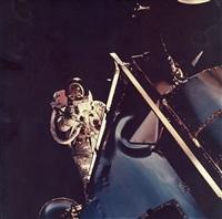 russell schweickart's eva, apollo 9, march 1969 by david scott