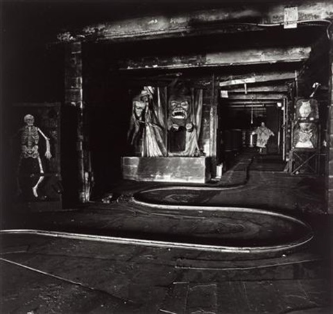the house of horrors coney island ny by diane arbus