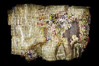 new world map by el anatsui