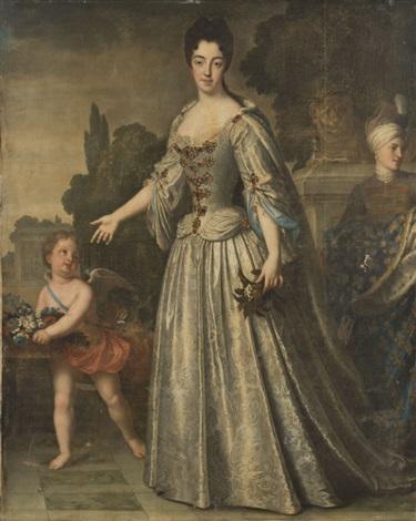 portrait de marie adelaïde de savoie duchesse de bourgogne by jean baptiste santerre