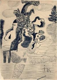 selbst im garten mit tieren by ida kerkovius