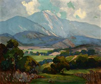 mountain landscape by george sanders bickerstaff