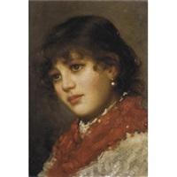 portrait of a girl by vittorio tessari