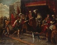 moïse envoie josué combattre les amalécites by frans francken iii