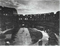 view of the colosseum by gioacchino altobelli