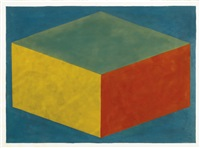 form derived from a cubic rectangle by sol lewitt
