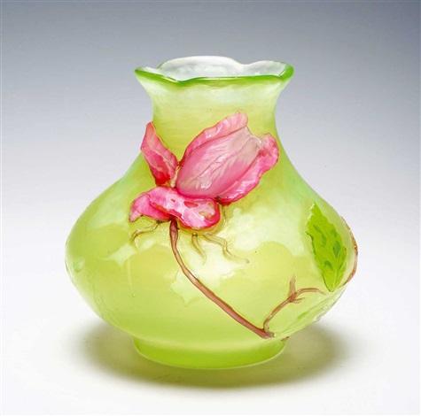a vase rose de france by émile gallé