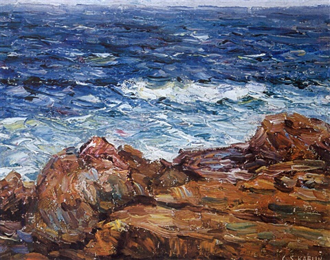 shore near rockport by charles salis kaelin