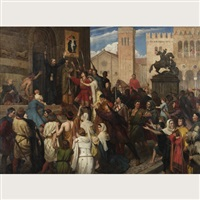 peter the hermit preaching the first crusade by james archer