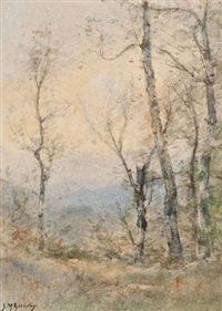 birches, spring evening by james macdonald barnsley