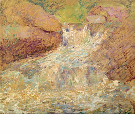 waterfall greenwich by john henry twachtman