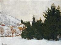 winter landscape by samu börtsök
