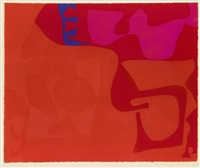 small red: january 1973: 1 by patrick heron