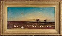 couché du soleil au confine de l'empire ottoman by charles emile vacher de tournemine