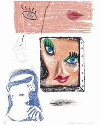 an image of celia (study), from moving focus by david hockney