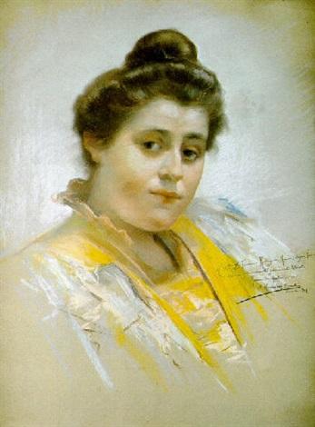 retrato de dama by manuel gonzalez santos