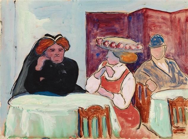 gespräch im café by marianne werefkin