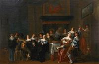 joyeuse compagnie dans un intérieur by anthonie palamedesz