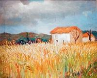 blés et petit mas en provence by marcel dyf