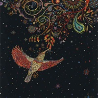 study for hummingbird by fred tomaselli