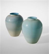 pair of 'incamiciati' vases, model no. 3581 by tomaso buzzi