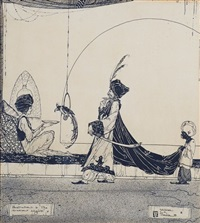 illustration to the arabian nights by william mitcheson timlin