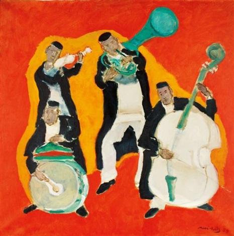 musiciens juifs populaires by mané-katz