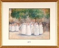 la procession des communiantes by emile hoeterickx