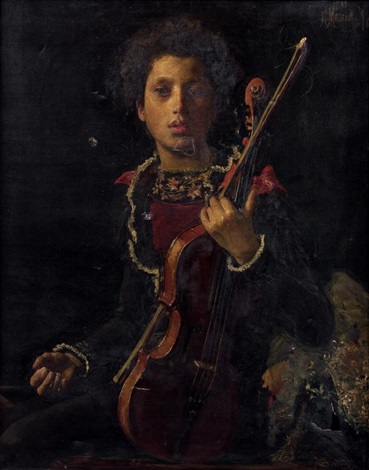 un jeune violoniste by antonio mancini