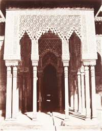 voyage en orient. grenade. alhambra. pérystile du fond de la cour des lions by louis de clercq
