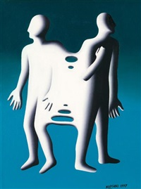 clones (baltic) by mark kostabi