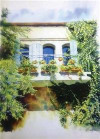 balcony in yemin moshe, jerusalem by beni gassenbauer
