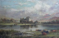 kilchurn castle with cattle in the foreground by murray j. macdonald