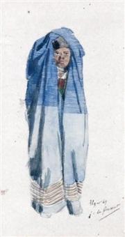 sans titre (algérien dans son manteau?) by jules de goncourt