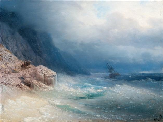 storm at sea by ivan konstantinovich aivazovsky