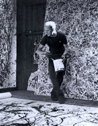 dripping : jackson pollock by hans namuth